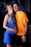 Femme enceinte et mari Photo libre de droits