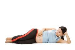 Femme enceinte Relaxed images libres de droits