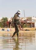 Femme enduite Photographie stock libre de droits