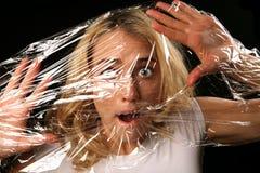 Femme enfermé Image libre de droits