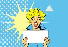 Femme enthousiaste illustration libre de droits