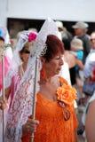 Femme espagnol dans la robe traditionnelle Photos stock