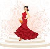 Femme espagnole de flamenco illustration de vecteur