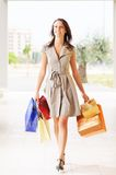 Femme et achats photo stock