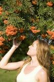 Femme et automne Photographie stock