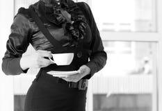 Femme et café Photographie stock libre de droits