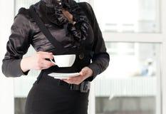 Femme et café Images libres de droits