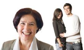 Femme et couples d'isolement images libres de droits