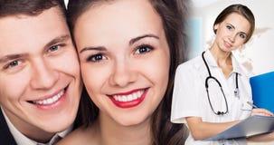 Femme et couples de docteur Photographie stock libre de droits