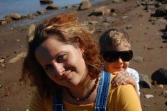 Femme et garçon Photo stock