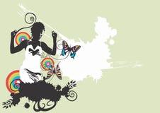 Femme et guindineaux illustration libre de droits