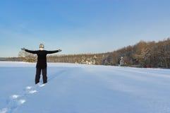 Femme et hiver photos stock