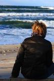 Femme et mer Photos libres de droits