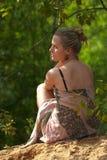 Femme et nature Photo stock