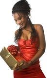 Femme et présent Images stock