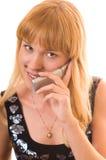 Femme et téléphone Images libres de droits