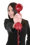 Femme et téléphone Photo libre de droits