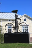 Femme et vélo Photos libres de droits