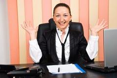 Femme exécutive avec la réussite dans les affaires Image libre de droits