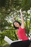 Femme Excited Images libres de droits