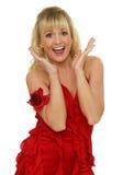 Femme Excited Photographie stock libre de droits