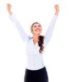Femme Excited d'affaires Photo stock