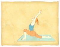 Femme exerçant l'illustration Image stock