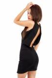Femme expressif dans la robe élégante image stock