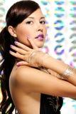Femme expressive de Glamoue jeune Photographie stock libre de droits