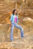 Femme extérieur Photo libre de droits