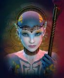 femme extraterrestre illustration de vecteur
