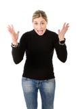 Femme fâchée images stock