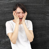 Femme fâchée Photographie stock libre de droits