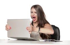 Femme fâchée d'affaires Images libres de droits