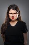 Femme fâchée drôle photo libre de droits