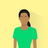 Femme féminine d'avatar d'afro-américain d'icône de profil Photographie stock libre de droits