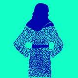 Femme féminine d'illustration de mode de bas de fille de vecteur illustration libre de droits
