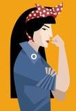 Femme féministe asiatique Images stock
