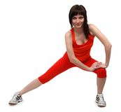 Femme faisant des exercices Photo libre de droits