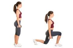 Femme faisant des mouvements brusques Image stock