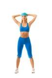 Femme faisant l'exercice de forme physique Photographie stock