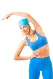 Femme faisant l'exercice de forme physique Image libre de droits