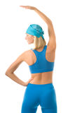 Femme faisant l'exercice de forme physique Photos stock
