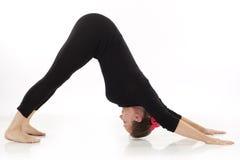 Femme faisant l'exercice de yoga Photographie stock