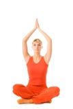 Femme faisant l'exercice de yoga Photos libres de droits