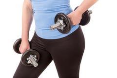 Femme faisant la forme physique pour la perte de poids photos stock