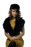 Femme fascinant avec le chapeau photo libre de droits