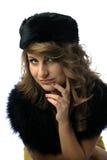 Femme fascinant avec le chapeau photo stock