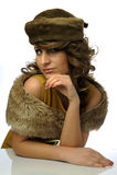 Femme fascinant avec le chapeau image stock
