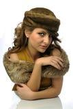 Femme fascinant avec le chapeau image libre de droits